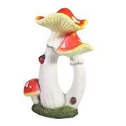 Фигура декоративная Сказочный тройной гриб L17W12H26см