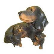 Фигура садовая Такса с щенками L31W21H26 см.