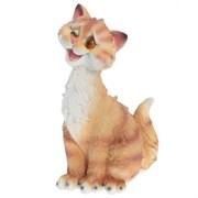 Фигура садовая Забавный рыжий кот L13W13H26 см.