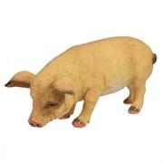 Фигура декоративная Свинка Фуся светлая L29.5W12H13см