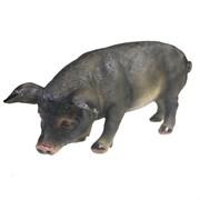 Фигура декоративная Свинка Фуся темная L29.5W12H13см