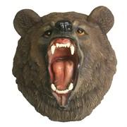 Фигура декоративная навесная Голова свирепого медведя L28W41H41см