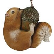 Фигура декоративная Белка на желуде подвеснаяL17W17H8см