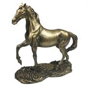 Фигура декоративная Конь цвет: золото L16W6H16см