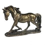 Изделие декоративное Лошадь цвет: темное золото L32W9H22см
