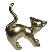 Фигура декоративная Котенок игривый цвет: золото L18W7H18.5см