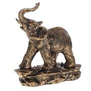 Фигурка декоративная Слон цвет: бронза L17W9H19см