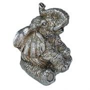 Фигура декоративная Слон цвет: серебро L10W9H13.5см
