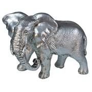 Фигура декоративная Слон цвет: серебро L17.5W9H13см