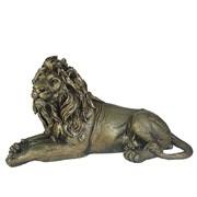 Фигура декоративная Лев цвет: золото L34W13H19см