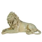 Фигура декоративная Лев цвет: слоновая кость L34W13H19см