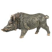Фигура декоративная Кабан большой цвет: бронза L35W10H19см