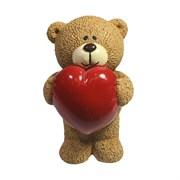 Фигура декоративная Влюбленный медвежонок бежевый L7W7H11см
