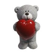 Фигура декоративная Влюбленный медвежонок серый L7W7H11см