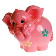 Копилка Слоненок розовый L16 W14 H15.5см