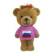 Копилка Плюшевый мишка в свитере с бантиком флаг L15W18H28см