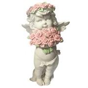 Фигурка декоративная Ангел с розами  L12.5W9Н22см