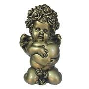 Фигука декоративная Ангел Сердечной привязанности цвет: золото L12W9H19см