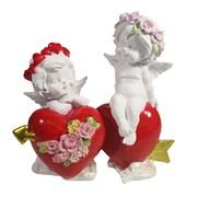 Фигурка декоративная Ангелы верности цвет: акрил L15W6.5H14.5см