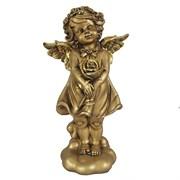 Фигурка декоративная Ангелочек счастья цвет: золото L14W9,5Н25см
