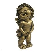 Фигура декоративная Счастливый ангелочек золотой L7W8H18см
