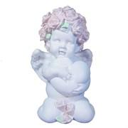 Фигука декоративная Ангел Сердечной привязанности цвет: белый L12W9H19см