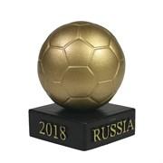 Изделие декоративное Мяч на подставке цвет: золото L5W5H8.5см
