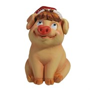 Фигура декоративная Свинка Фрося розовая L8W8.5H11.5см