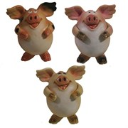 Фигура декоративная Свинка Мишелька L6.5W6H7.5см