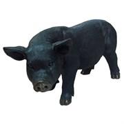 Фигура декоративная Свинья (черная) W28 L55 H33 см