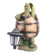 Фигура декоративная садовая Черепаха с фонарем L20W18H37см