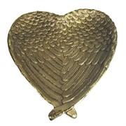 Подставка под мелочи Крылья ангела цвет: золото L23W20H3.5см