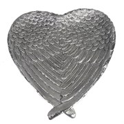 Подставка под мелочи Крылья ангела цвет: серебро L23W20H3.5см