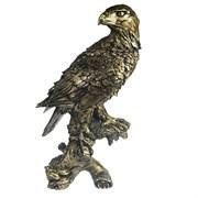 Фигура декоративная Орел на коряге цвет: золото H32см