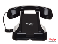 Подставка для смартфона с ретро-трубкой Playbox Retro Phone PBT-25-BK