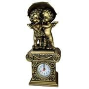 Композиция время Ангелочки под зонтом цвет: сусальное золото Н26см.