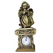 Композиция время Ангелочек со звездочкой цвет: сусальное золото Н25.5см.