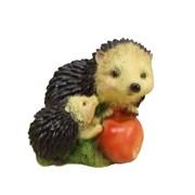Фигура декоративная садовая Ежик с яблоками, L14.5W18H14 см