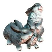 Фигура декоративная Зайцы семейка, L27 W23 H24 см