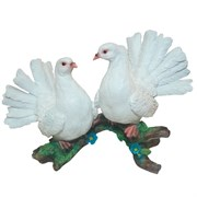 Фигура декоративная садовая Два голубя №2 L38W24H24 см