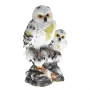 Изделие декоративное Две полярные совы , L22.5 W18.5 H38.5 см