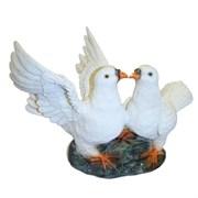 Фигура декоративная садовая Два голубя L30W19H21