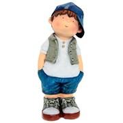 Фигура декоративная Мальчик руки в брюки L17W15H42cm