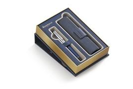 Набор: Перьевая ручка Expert Deluxe Blue CT с чехлом для ручки Waterman 1978713