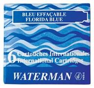 Сине-черные чернильные картриджи Интернешнл. 6шт/уп Waterman S0110950