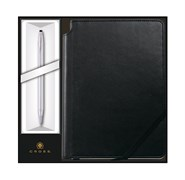 Набор: Шариковая ручка Classic Century Chrome и Записная книжка Journal Classic Black Кросс (Cross) 3502/1M