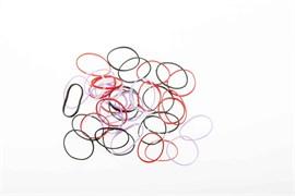 Резинки для волос силикон цветные, mini (50 шт) Деваль Бьюти (Dewal Beauty) DBR18