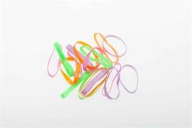 Резинки для волос силикон цветные, midi (25 шт) Деваль Бьюти (Dewal Beauty) DBR19