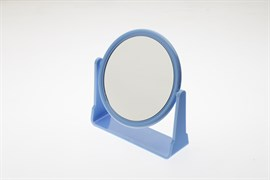 Зеркало настольное на подставке синего цвета Деваль Бьюти (Dewal Beauty) MR115
