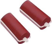 Бигуди резиновые красные d 22 мм x 70 мм (10 шт) Dewal Beauty DBRZ22
